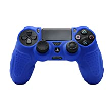 CHINFAI Game Accessory, Silicone Protector Skin Cover Case for PS4 Game Controller Blue ZH-5281