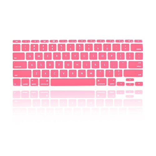 TOP CASE Keyboard Silicone Cover Skin Compatible with MacBook Air 11 Model: A1465 (MacBook Air 11 Model:A1465, Pink)