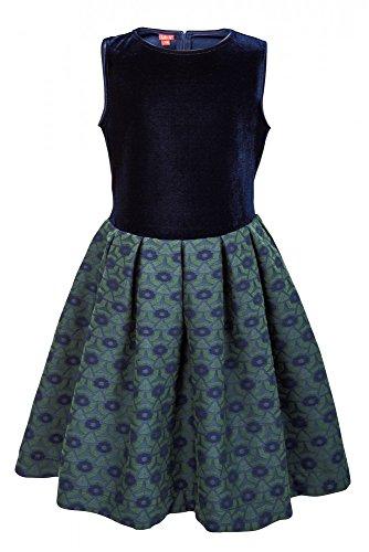 Festliches weiß Mädchenkleid Blau La V zx5vqAIFw