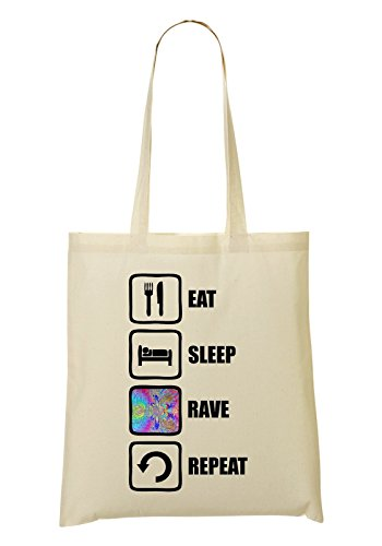 Sac Repeat Graphic Color provisions Eat tout à Fourre Sac Sleep Rave UxqxfR