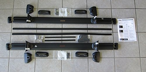 (Lockable Cross Rail Roof Rack Kit for any Thule or Mopar Cargo Carriers / Mopar OEM 82214658AB / 17 Jeep Compass)