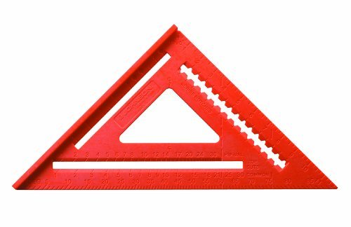 Johnson Level and Tool RAS-170B-ORA 12-Inch GloOrange Structo Cast Rafter Angle Square with out Manual by Johnson Level & Tool