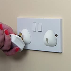 Clippasafe UK Plug Socket Covers - Frustration Free Packaging (12 Pack)