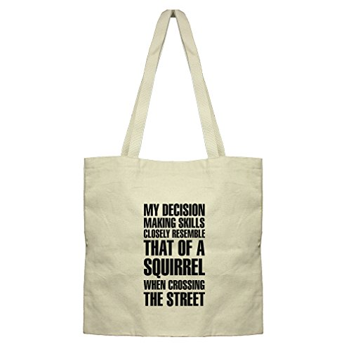 Of A Squirrel When Crossing The Street Canvas Flat Market Tote - Street Shopping Center Market