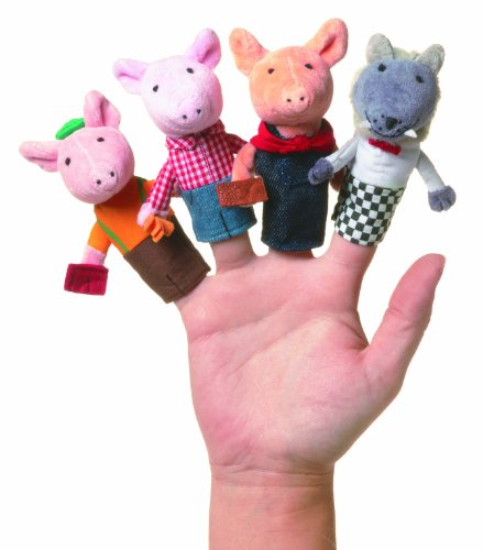 Manhattan Toy Storytime Three Little Pigs Finger Puppet Set (Big Bad Wolf Makeup)