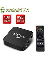 VGROUND MXO Pro 4K TV Box Android Con Amlogic S905W 64Bit Quad-Core, Videodecoder H.265, 2,4 GHz Wi-FI, 4K HD, 1 Go + 8 Go
