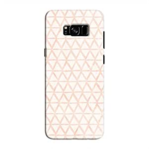 Cover It Up - Triangle Print Orange Galaxy S8 Plus Hard Case