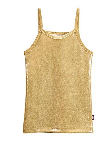 - City Threads Girls Cami Spaghetti Strap Tee Tshirt Fun colorful Metallic Shiny Mermain Print Tank Top For School Party Summer, Summer, Sparkly Gold, 10