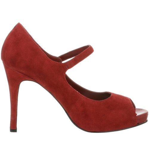 NINE WEST - Zapatos De Tacón Mujer - Pump Punta Abierta NWLUMINOUS RED RED Tacón: 11 cm