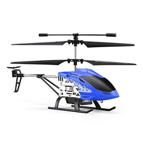 JJR/C JX01ジャイロメタル2.4Gラジオ3CHミニヘリコプターRCリモートコントロールフライングドローンおもちゃギフトプレゼントRTF(:青)
