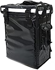 """PK-34V: Small Food Delivery Backpack for Hot and Cold, 13"""" L x 9"""" W x 18"""" H, Beverage Delivery Carrier, Drinking Delivery Bag, Coffee Take Out Box, Top Loading, Velcro Closure, Fit 9"""" Pizza"""