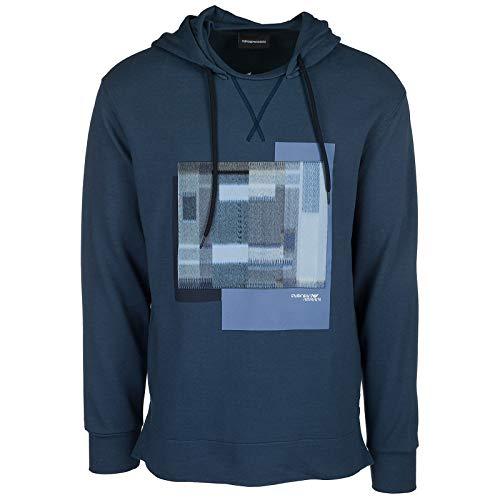 e4c8eedc884d Shirts Bluette Emporio Armani À v646dwq Sweat Blu Homme Capuche dtXdqH