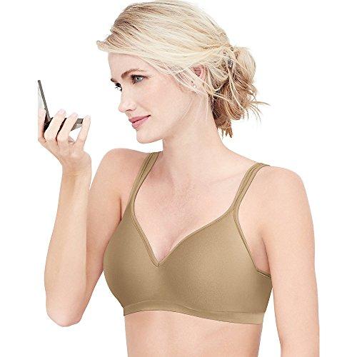 (Bali Comfort Revolution Wirefree Bra, Nude, 36B)