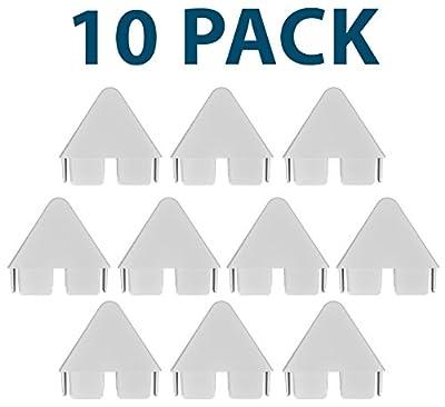 "7/8"" x 3"" Vinyl Spade Picket Caps (10 Pack) - White"