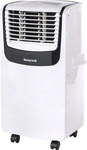 Honeywell MO08CESWK Compact Portable Air Conditioner with Dehumidifier and Fan for Rooms Up To 350 Sq. Ft. With Remote Control (Black/White) by Honeywell