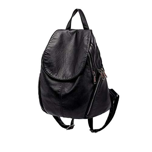 Soft Bag Version Korean Fashion The Of Casual Leather Wild Backpack vEqwxwz7