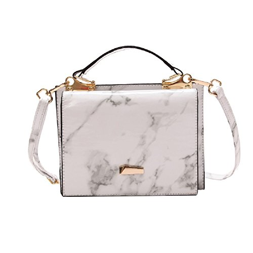 Shiny Shoulder Black Woman White Shoulder Tote Messenger Bags Zhrui Bag Color qtaaP