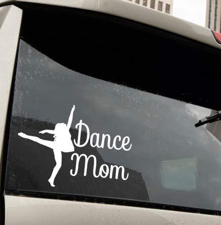 CLIFFBENNETT Dance Mom Ballet Vinyl Decal Car Truck SUV Auto Vehicle Phone Laptop Window Sticker School Cheerleader Parent Gift Girl Preppy