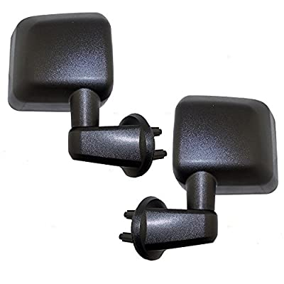 Manual Side View Mirrors Textured Driver and Passenger Replacements for 07-17 Jeep Wrangler 18 Wrangler JK 68081251AA 68081250AA: Automotive