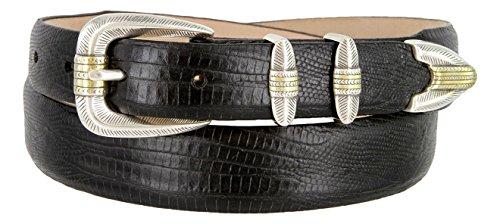 Lizard Dress Belt (Manila Genuine Italian Leather Designer Dress Golf Belt(Lizard)
