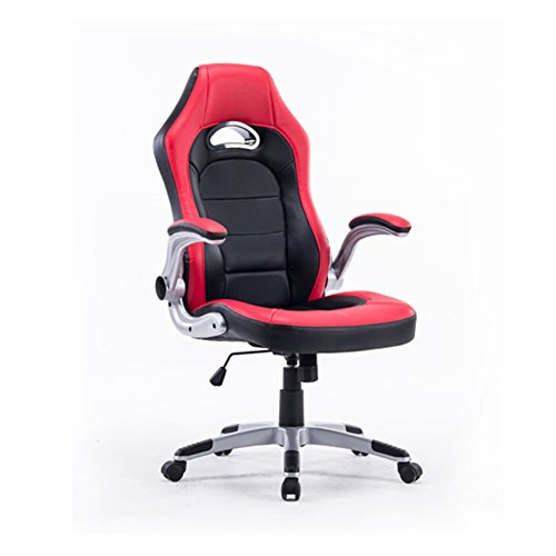 Style Swivel High back Computer PC Office Gaming Racing PU Chair, Ergonomic Adjustable Executive Chair including Flip up Armrest (Office Pinnacle Chair)
