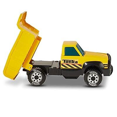 Tonka Classic Steel Quarry Dump Truck Vehicle, Yellow: Toys & Games