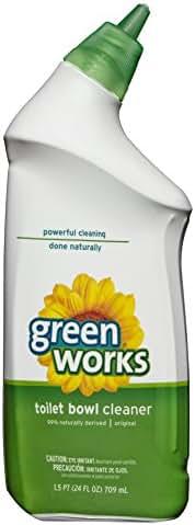 Green Works Toilet Bowl Cleaner, Toilet Gel Cleaner - 24 Ounces (Pack of 12)