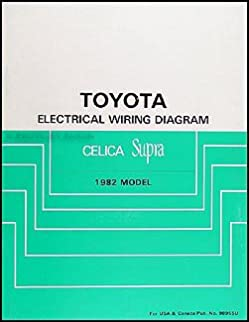 1982 toyota celica supra wiring diagram manual original toyota rh amazon com 1982 toyota tercel wiring diagram 1982 toyota truck wiring diagram