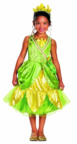 [Disguise Disney's Princess and The Frog Tiana Sparkle Deluxe Girls Costume, 7-8] (Princess Tiana Disney Costume)