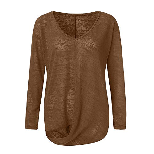 Manches Sport Or Miel Elegant Unie DContract Long Couleur AsymTrique Tunique Tops De Longues LaChe Ourlet Tops Dames Elegant rrxOT5n