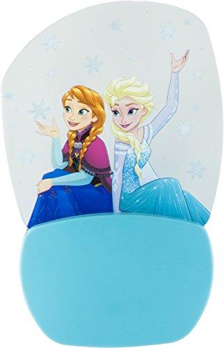 Disney Frozen Anna & Elsa 3D Motion Effect Night Light, Soft White Glow, Light Sensing, Long Life and Low Energy LED, 30270 (Low Energy Led)