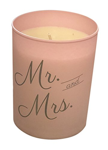 Flamme Candle Co. Mr. and Mrs. Candle - Wedding Candle - Natural Essential Oils - Pink (Matte) Jar