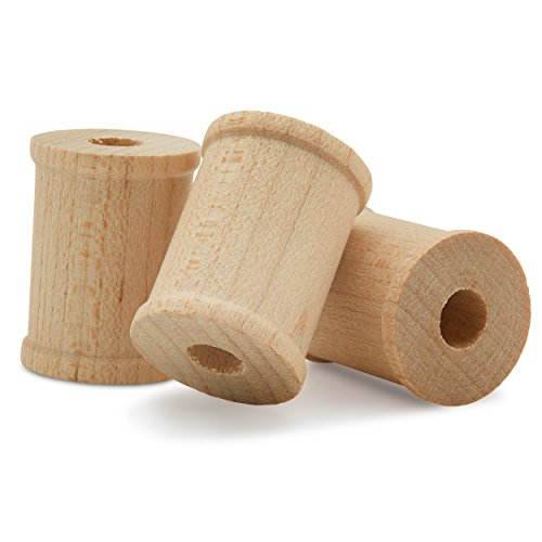 Wooden Spools Unfinished 1 x 3/4 Inch -Pack of 50 by Woodpeckers