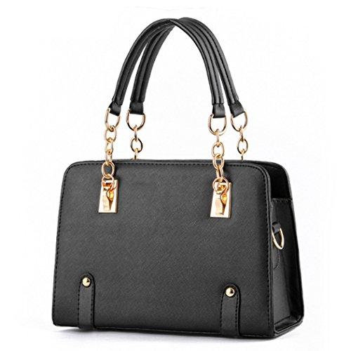 Sacchetti di spalla delle borse di cuoio dei sacchetti di Tote di modo delle signore delle nuove donne di disegno caldo di lusso Nero
