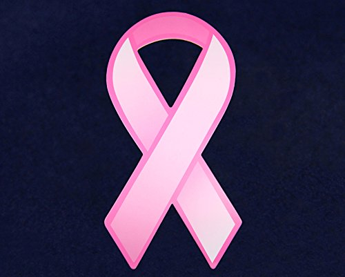 Breast Cancer Awareness Pink Paper Ribbon Cutouts 1 Pack