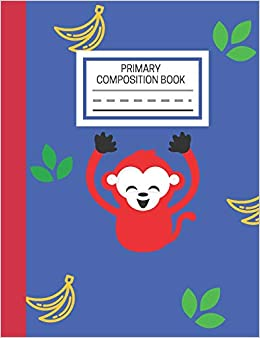 Primary Composition Book: Monkey Primary Story Journal for Grade K