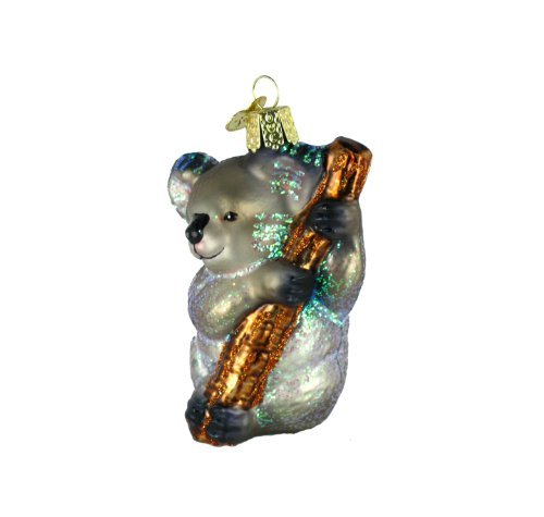 Old World Christmas Ornaments: Koala Bear Glass Blown Ornaments for Christmas Tree