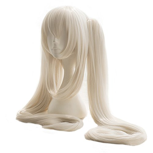magic acgn Lolita Wig Long with Two Clips Game Hair Halloween Wig