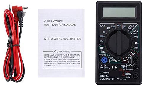 L-YINGZON Electrical Multimeters 2-Color LCD Digital multimeter AC/DC 750 / 1000V Digital Mini multimeter Probe for Voltmeter Ammeter ohm Test Instrument,B Testing Measuring Tools