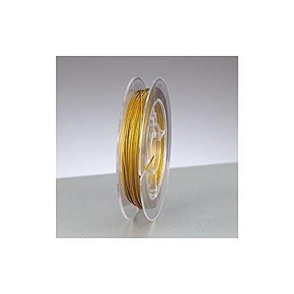 Schmuckdraht nylonummantelt 0,38mmx10m goldfarben