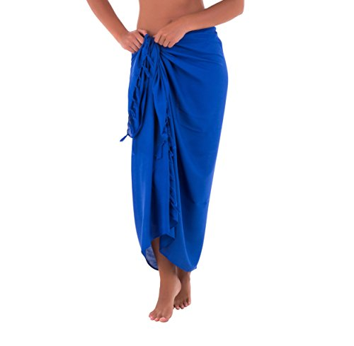 770ab78c82 Shu-Shi Womens Beach Cover Up Sarong Swimsuit Cover-Up Many Solids Colors  to choose,Royal Blue,One Size