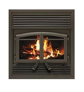 FL 063 Flame Monaco EPA Zero Clearance Fireplace With Black Louvers