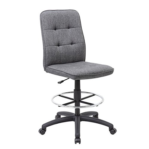 Boss Fabric Modern Ergonomic Drafting Height Chair by Boss Office Products