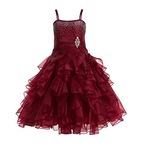 ekidsbridal Rhinestones Organza Layers Formal Flower Girl Dresses Toddler Girl Dress 164S