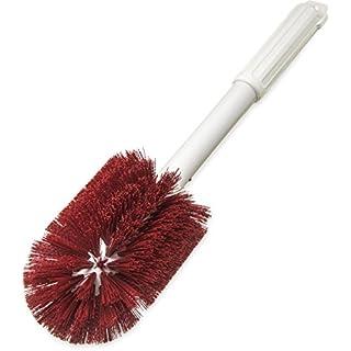 "Carlisle 4000505 Multi-Purpose Round Valve Brush, 4"" Polyester Bristles, 16"" Length, Red"