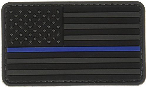 5ive Star Gear US Flag Morale Patch with Blue Stripe, Black/Blue, One Size