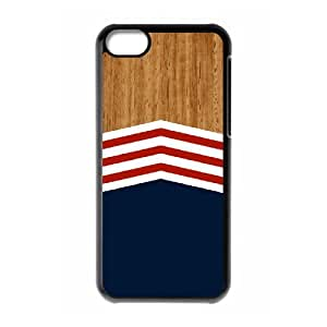 Customized Dual-Protective Case for Iphone 5C, Wooden Navy Cover Case - HL-R690427
