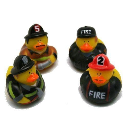 - Pack Of 12 Firefighter Fireman Fire Fighter Hero Rubber Ducks Duckys by NewBorn & Babies