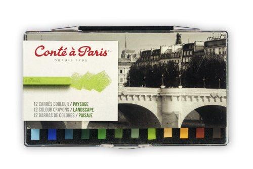 Drawing Conte Crayons (Conte Crayon 12 Assorted Landscape Set)