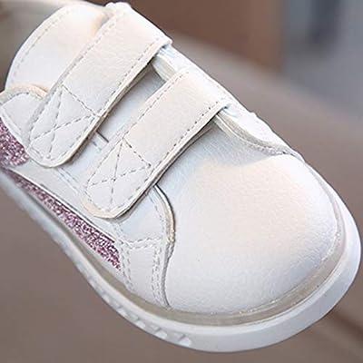 FshingingChildrenKid Baby Girls Boys Striped Bling Flat Led Luminous Sport Sneaker Shoes: Clothing